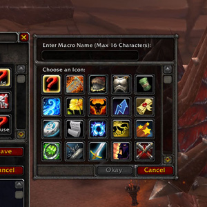 macro for wow icon