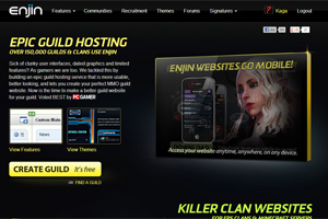 picture of world of warcraft guild hosting provider called Enjin